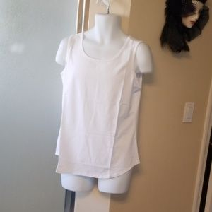 Susan Graver White Tank Top